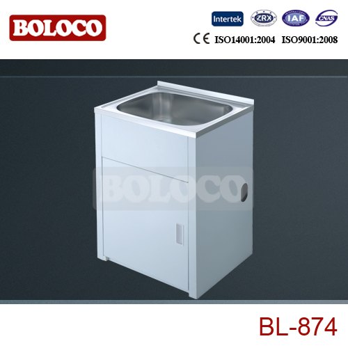 stainless steel laundry sink cabinet BL-874