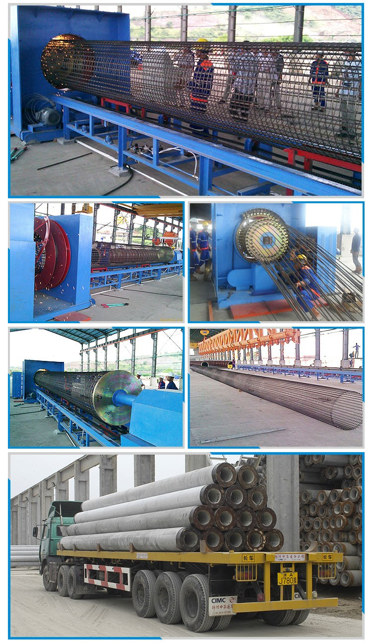 Auto spun pile cage welding machine for concrete pile
