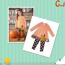 Girls fall winter clothing sets factory wholesale cheap boutique kids clothing sets for halloween day
