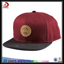 Trade Assurance fashion plain leather patch basketball snapback hats and cap manufacturer