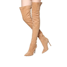 China supplier ladies high heels knee boots fashion women long boot 2017