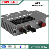 waterproof MPPT on grid tie solar inverter 300W with WIFI communication