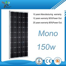 High efficiency mono solar panel 150w price in lahore pakistan
