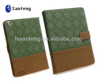 Magnetic Smart Cover Embossed Synthetic leather Case for ipad 2 and Ipad3 New Ipad can stand
