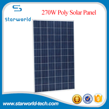 Commercial grade poly 250 watt 280 watt photovoltaic solar panels for home roof/mount