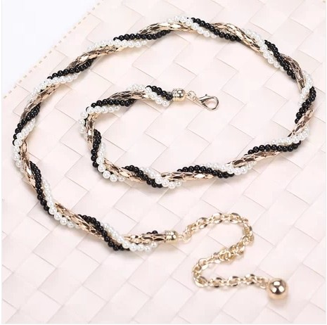 women handmade seed bead waist chain garment accessory jewelry