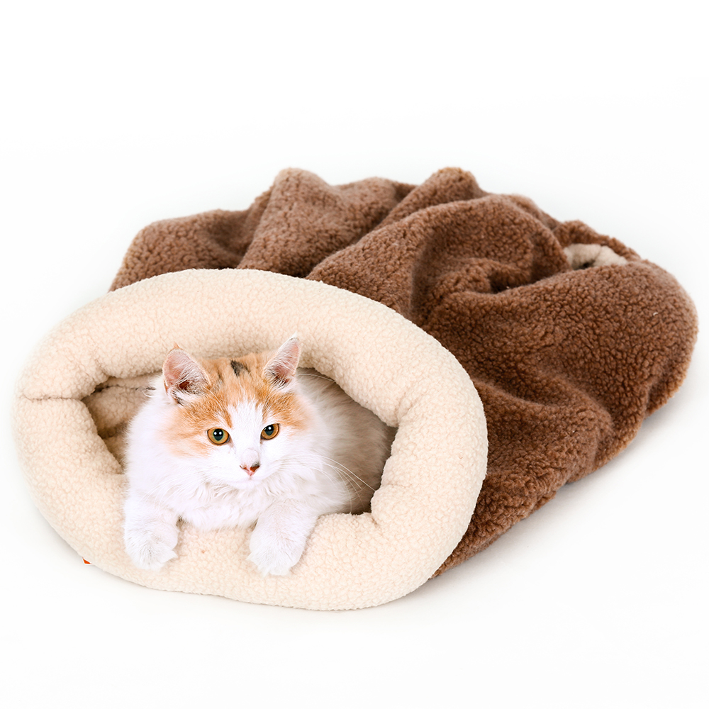 For Amazon And Ebay Stores Custom Logo Soft Warm Pet Cat Dog Bed Nest Cave With Hole