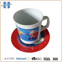 Promotional colorful carton Father Christmas printed coffee cup