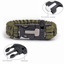 KongBo Wholesale Cheap Firestarter Christmas Paracord Green Survival Bracelet