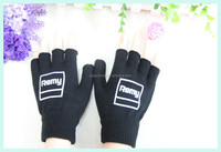 Black Acrylic Fingerless Magic Glove