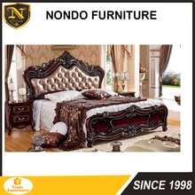 Rococo italian classic luxury French royal furniture italian Carved bedroom sets