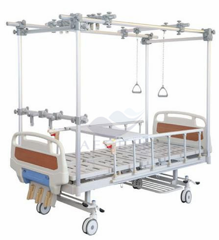 AG-OB005 ABS head/foot board detachable side rails hospital furniture orthopedic bed patient special used nursing home beds
