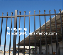 Newest design high quality steel fence balustrade post /waterproof pvc coated wall boundary steel grills fence