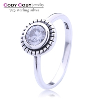 Hot sale Fashion Luxury Women Party Jewelry 925 sterling Silver 3A ZC Cubic Zircon Female Wedding Finger Flower Rings