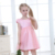Pink beautiful girl party frock design dress flower girl birthday dresses