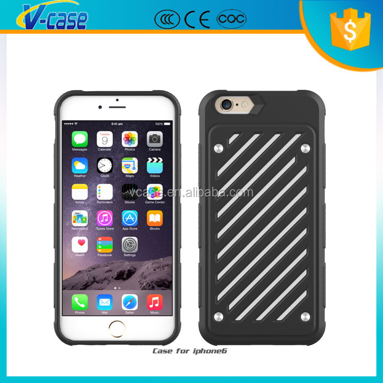 Flexible protective 2 in 1 tpu + pc mobile phone case cover for apple iphone6