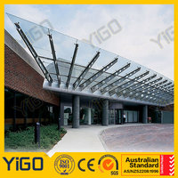 Large Outdoor Tempered Glass Canopy for Entrance