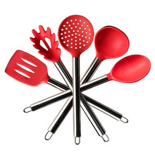 LFGB FDA heat resistant stainless steel handle silicone prestige non-stick cookware set