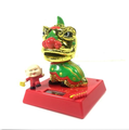 Customized Solar Power Oriental Traditional Chinese Dancing Lion Bobble Head Toys/Wholesale Decoration Solar Toy