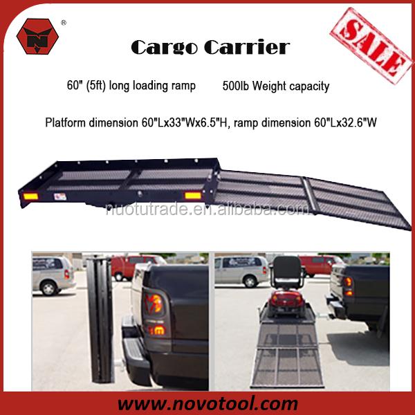 XL Wheelchair Scooter Carrier with Loading Ramp Hitch Mounted Rear Cargo Carrier