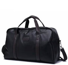 China wholesale custom large leather travel tote bag for men