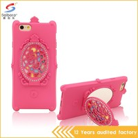 Fashion style low moq super luxury Phone case 5s for iphone silicon case cover with mirror