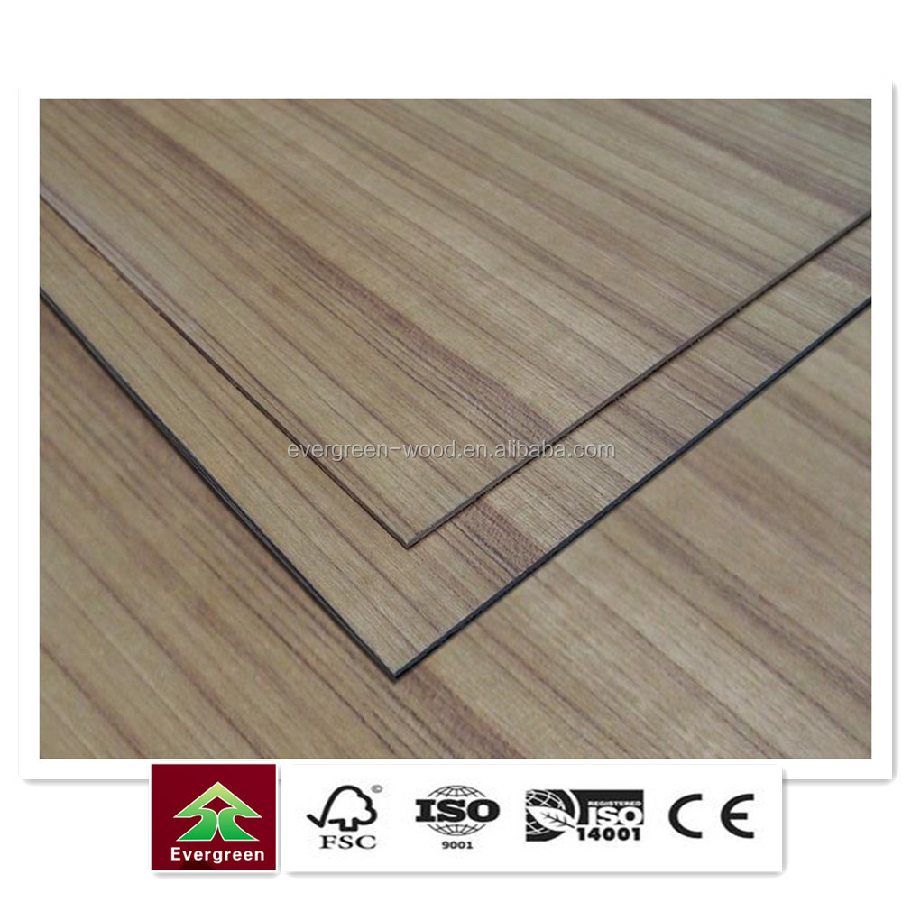 Hot sell natural burma teak veneer face teak plywood