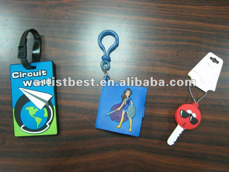 Varied Soft PVC nametags keyfob key chain