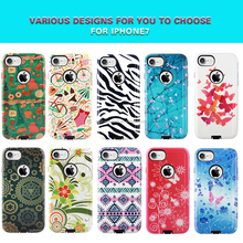 colorful printing phone shell , combo phone case ,phone accessories for Iphone 7