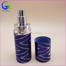 OEM leather wrapped pump atomizer 2016 new 40ml tube perfume grx007