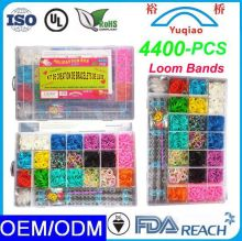 2014 Factory Promotional Ecofriendly Crazy Silicone DIY Loom Bands Wholesale