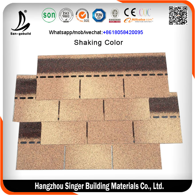 Factory directly sell Cheap asphalt shingles / fiberglass shingles / roof tiles asphalt