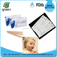 Disposable medical wood tongue depressor for surgical supply with paper box