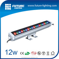 Outdoor strip lighting ip65 12W 60cm dimmable , RGB color changing led wall washer