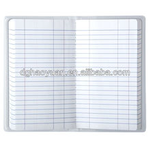 Wholesale Vinyl clear pocket cover tally book