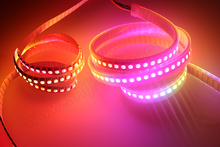 full color smart addressable rgb digital apa102c 144pixel black led strip