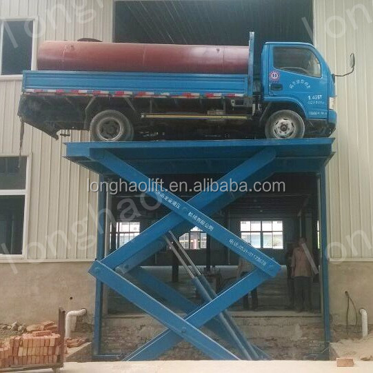 Longhao widely used car scissor lift for sale fixed in floor scissor lift best work platforms