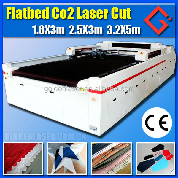 woven fabric cutter laser / co2 laser flat bed cutting machine
