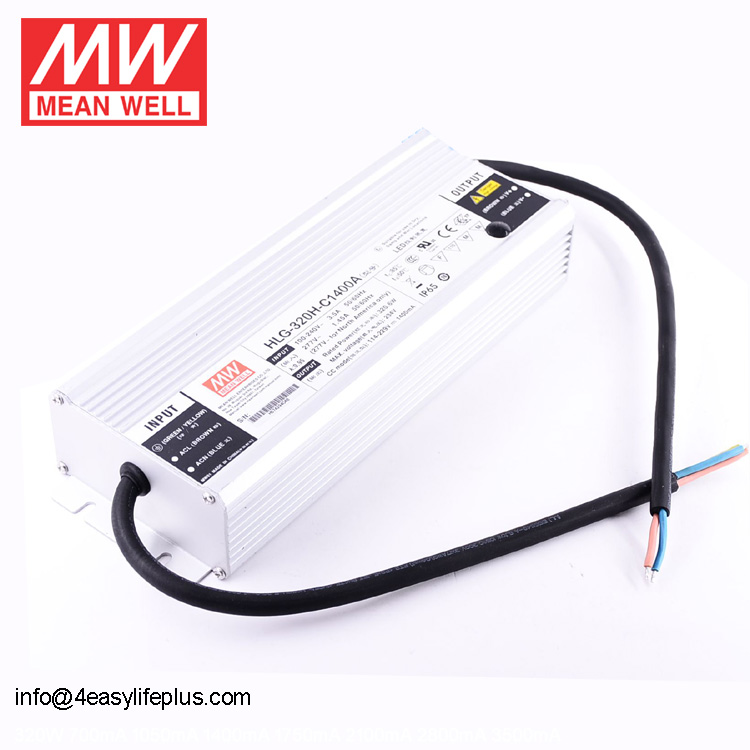 Meanwell HLG Series HLG-320H-C1400B 320W Constant Current LED Driver