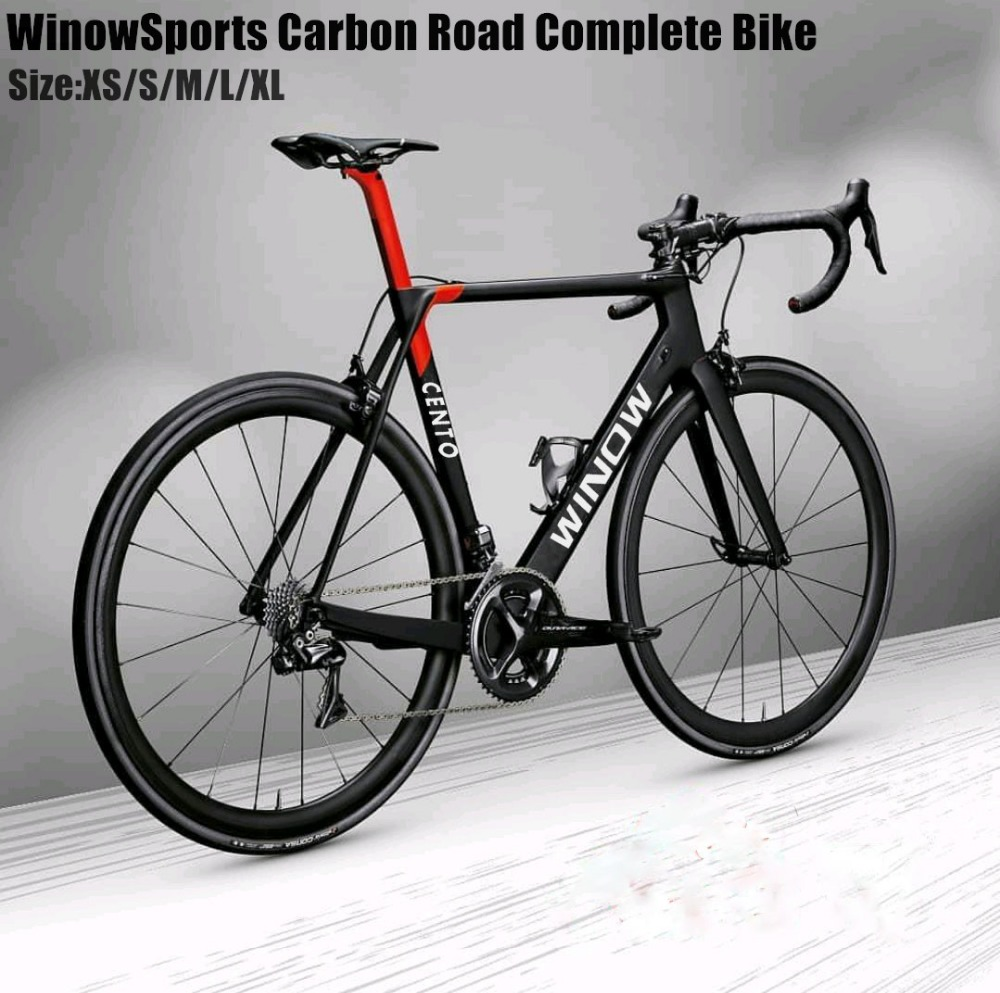2018 aero carbon road bike 105 Groupset 22 Speed Carbon Road Racing Complete Bikes Size:XS/S/M/L/XL