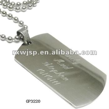 Stainless Steel Personalized Dog Tag Engraved Jewelry Tags