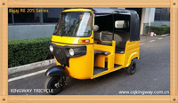 2015 chnia supplier 200cc water cooling bajaj tricycle/bajaj tvs king/bajaj re
