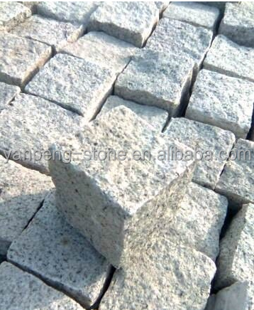 China cheap grey granite G603 paving stone,cube&cobble stone