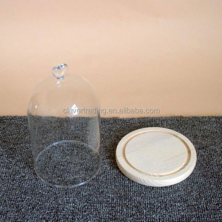 Chinese Manufacturers Display Glass Dome With Base