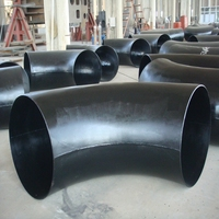 factory carbon steel 45 degree bend / elbow / pipe fitting