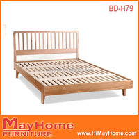 new design solid oak wood king size bed frame