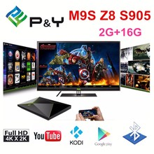 DHL Free shipping Pendoo M9S Z8 Android tv box Octa Core S905 CPU Smart tv box