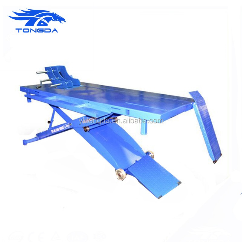 China supplier 2017 CE manual motorcycle lift TD-MJ500A motorcycle scissor car lift CE Certification workshop equipment