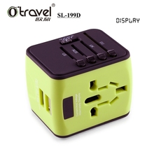 Otravel New Electrical items LCD universal world travel charger with dual USB for mobile phone