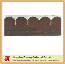 round of asphalt roof shingle with red color